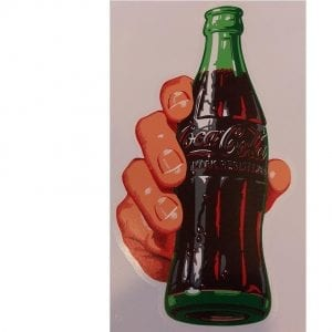 Coca-Cola Hand & Bottle Decal