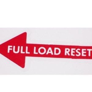 """Full Load Reset"" Arrow Decal for Vendo V-83"