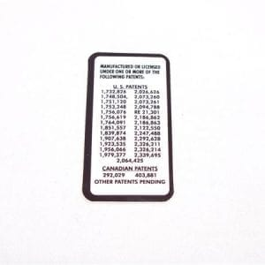 National Rejectors Patent Notice  DecalFor Small Coin Door Style Mechs